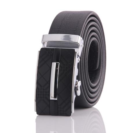 Black Belt // Silver + Black Buckle // AEB020