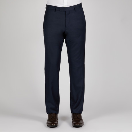 Micro Check Monaco Pant // Navy
