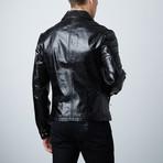 Cheltenham // Slim Fit Leather Jacket // Black (L)