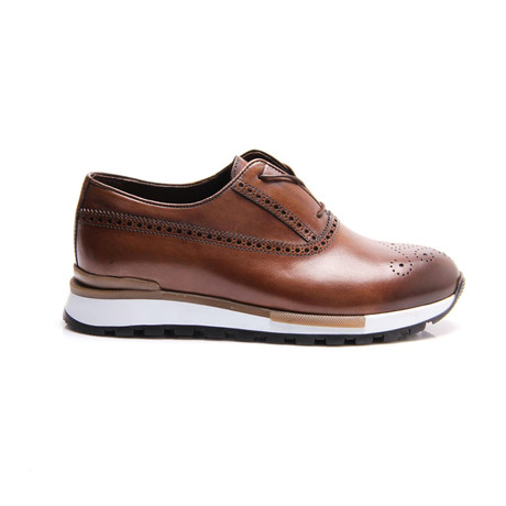 Medallion Toe Sneaker // Brown