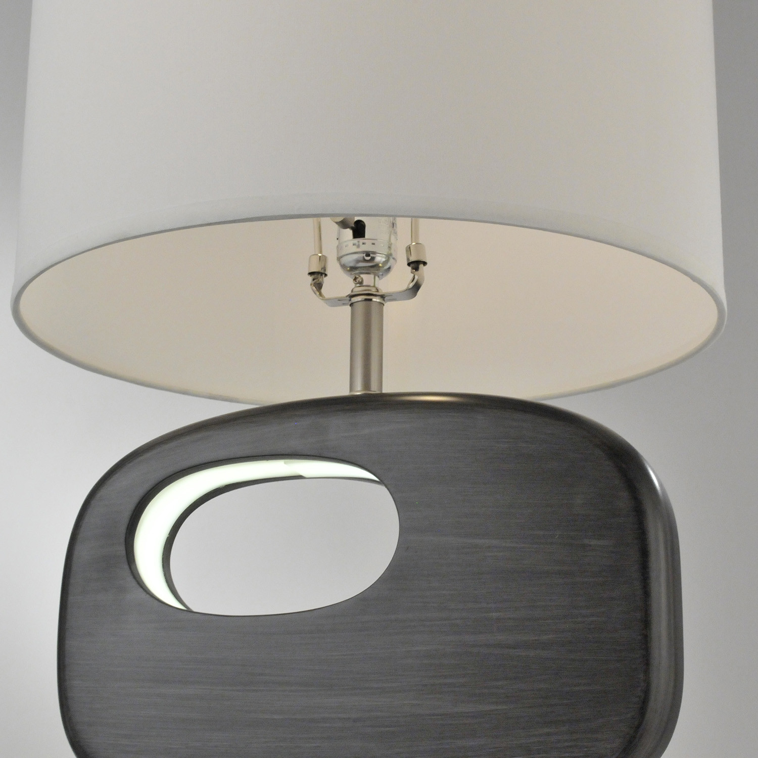 Offset reclining table lamp nova lamps touch of modern for Off set floor lamp
