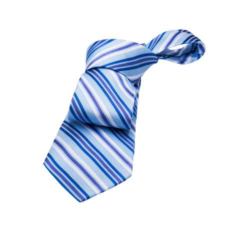 Alford Stripes // Blue + Purple + Silver