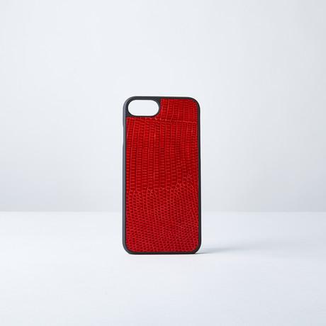 Lizard Phone Case // Red