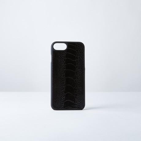 Ostrich Leg Phone Case // Black
