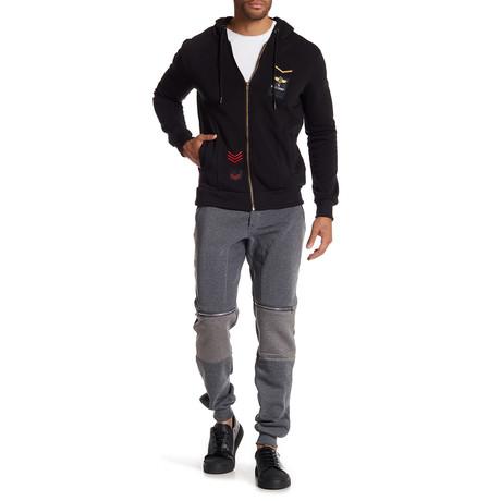 Fleece Pilot Jacket // Black (S)