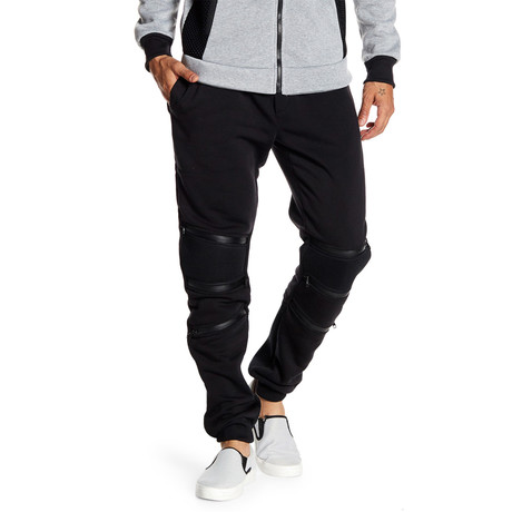 Fleece 3-Zip Pant // Black (S)