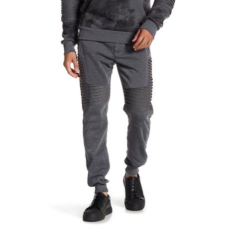 Fleece Pleated Knee Pant // Dark Gray (S)