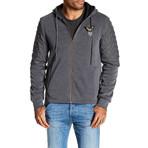 Fleece Jacket + Gold Zipper // Dark Gray (XL)