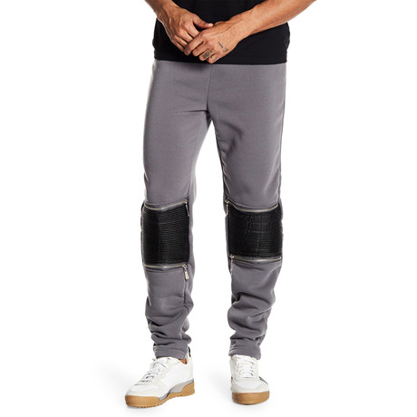 Fleece Knee-Zip Pant // Dark Gray (S)