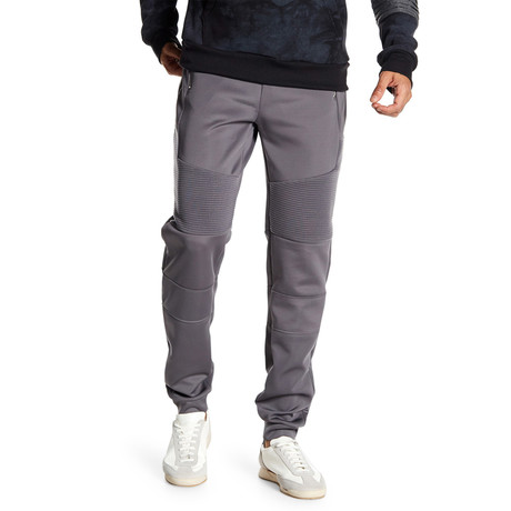 Fleece Ribbed Thigh Pant // Dark Gray (S)