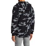 Fleece Camo Jacket // Black (S)