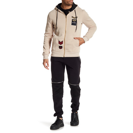 Fleece Pilot Jacket // Beige (S)