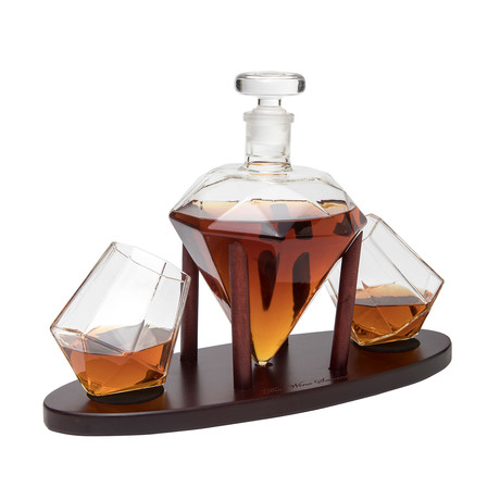 Diamond Decanter + Glasses (2 Glasses)