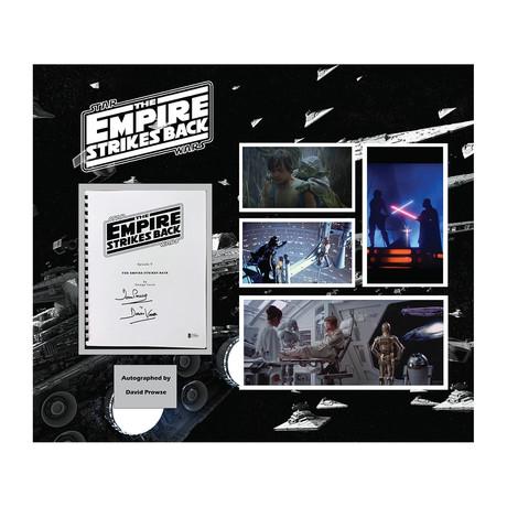 Signed + Framed Screenplay Collage // Star Wars Episode V