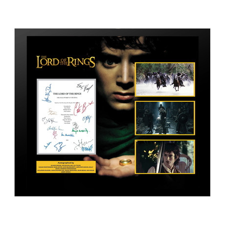 Signed + Framed Screenplay Collage // Lord of the Rings: The Fellowship of the Ring