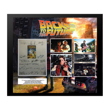 Signed + Framed Screenplay Collage // Back to the Future