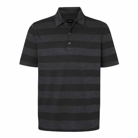 Charter Striped Short-Sleeve Top // Gray + Black