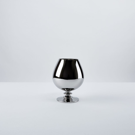 Platinum Look Brandy Snifter Glass