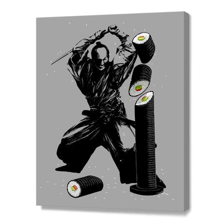 Sushi Slasher // Stretched Canvas