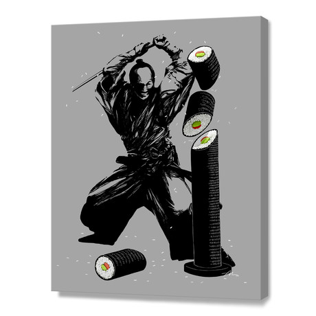 "Sushi Slasher // Stretched Canvas (16""W x 20""H x 1.5""D)"