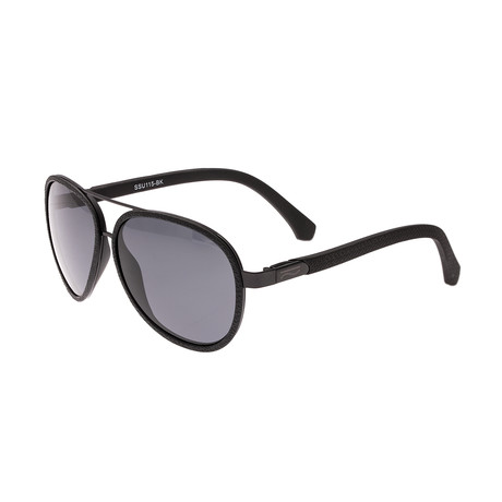 Stanford Polarized Sunglasses (Black Frame + Black Lens)