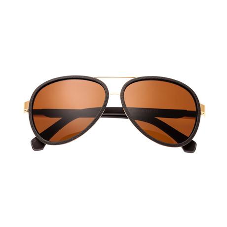Stanford Sunglasses // Gold Frame + Brown Lens