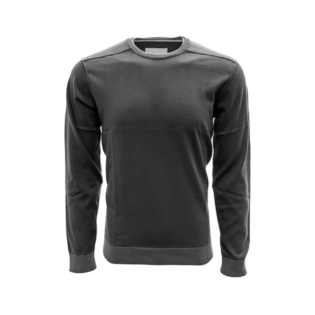 Baja Long Sleeve Sweatshirt // Charcoal + Pebble (S)