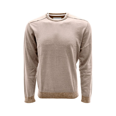 Baja Long Sleeve Sweatshirt // Light Khaki + Java (S)