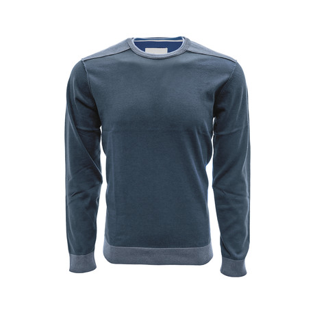 Baja Long Sleeve Sweatshirt // Slate Blue + Silk White (S)