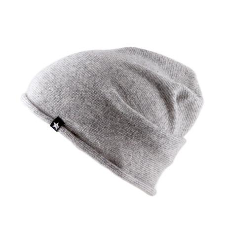 Slap Beanie // Gray + Off White