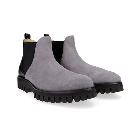 Patryk Chelsea Boot // Grey + Black