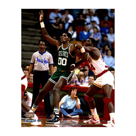 5d0dd5f57 Robert Parish Signed Green Celtics Jersey. Members-only Pricing. Hakeem  Olajuwon + Robert Parish Dual Photo