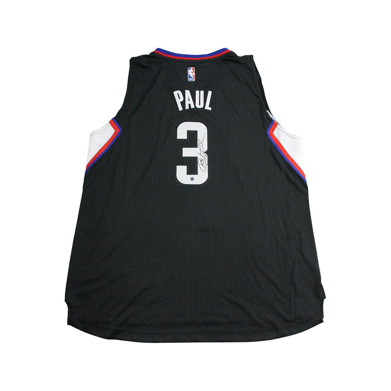 89f8b9779 9526776ad5628fe2ba73944cecce932a medium · Chris Paul Signed Black LA  Clippers Jersey