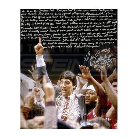 Dereck Whittenburg // Signed NCAA Championship Win Story Photo