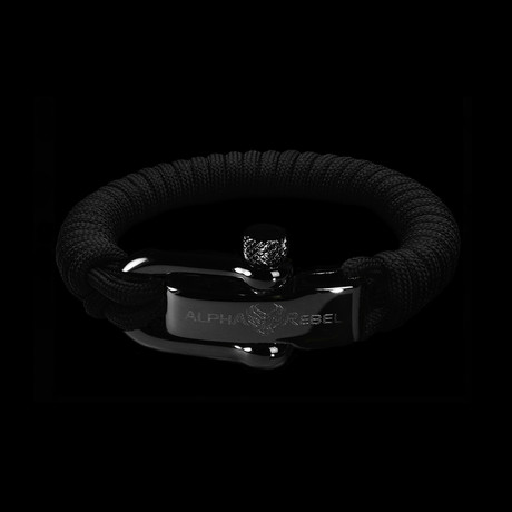 KCUF Slim Luxury Paracord Bracelet // Dark Gunmetal (Small)