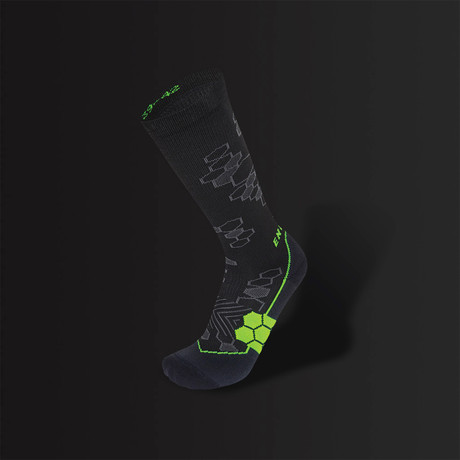 89cefc9482 Energy Recovery Sock // Black + Green (Size 2.5-5) - Enertor - Touch ...