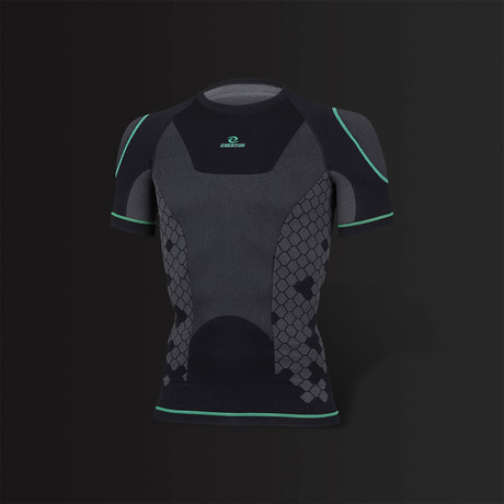 Energy Shirt Unisex Baselayer // Black + Green
