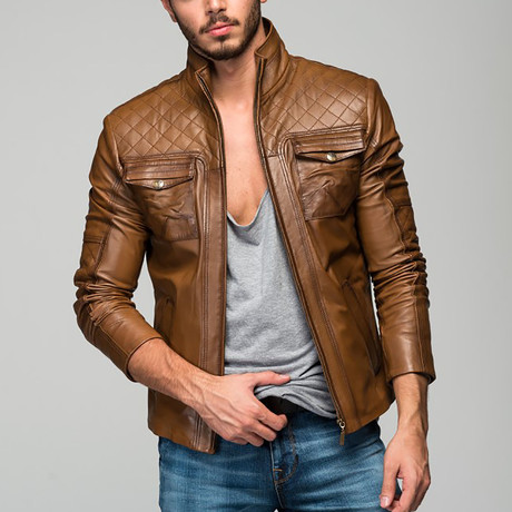 Checkered Jacket // Antique Brown