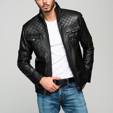 Checkered Jacket // Black (2XL)