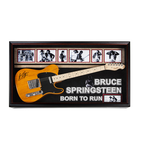Autographed + Framed Guitar // Bruce Springsteen