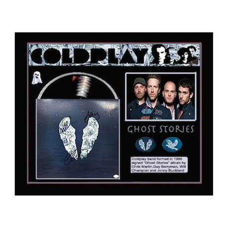 Framed Autographed Album Collage Coldplay