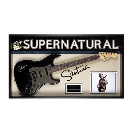 Framed Autographed Guitar Carlos Santana