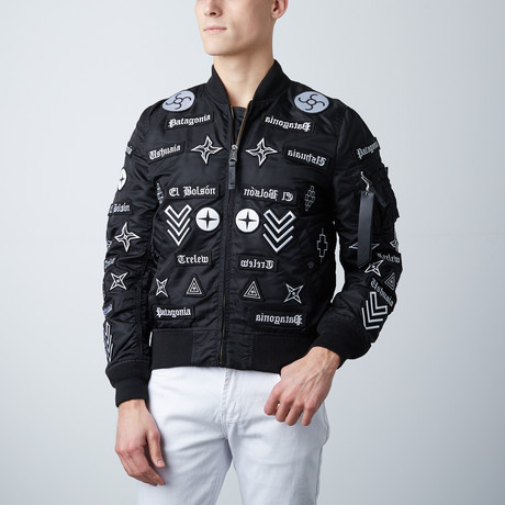 Marcelo Burlon // Roldan Alpha MA-1 // Black + White