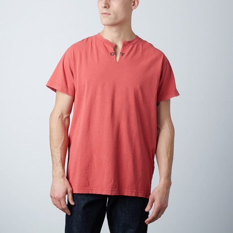 Off White // Washed Tee // Red White