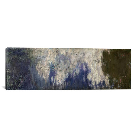 """The Waterlilies - The Clouds, 1914-18 (36""""W x 12""""H x 0.75""""D)"""