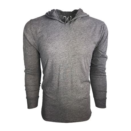 Ultra Soft Lightweight Tri-Blend Long Sleeve Hoodie // Vintage Heather (S)