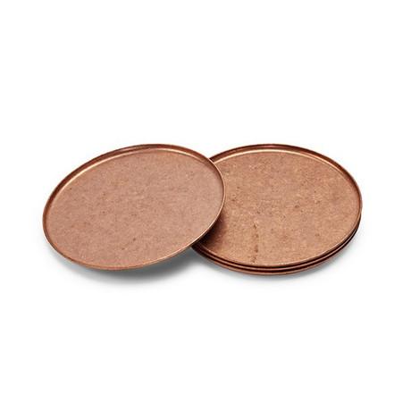 Elegant Copper Coasters // Set of 4