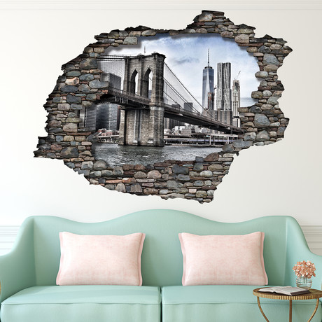 3D View Brooklyn Bridge