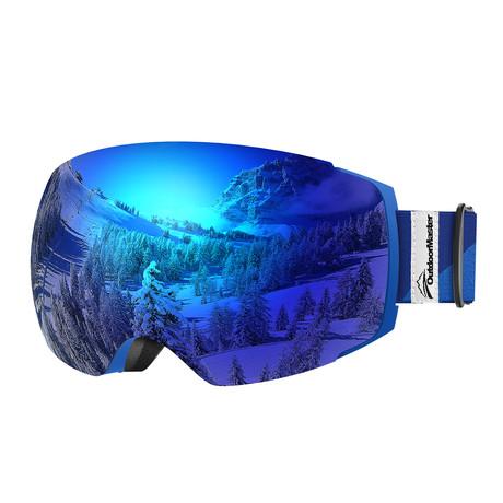 Ski Goggles PRO // Blue + Grey-Blue