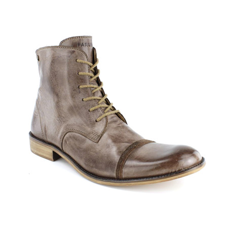 Urban Cap-Toe Ankle Boot // Brown